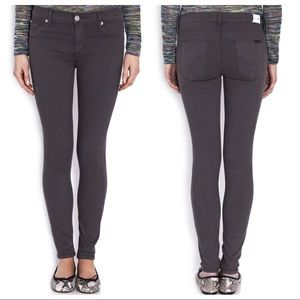 Hudson Dark Gray Nico Midrise Super Skinny Jeans